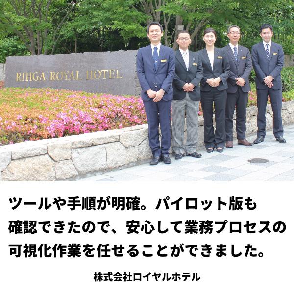 【業務プロセス可視化事例】ホテル主要業務 – ロイヤルホテル様